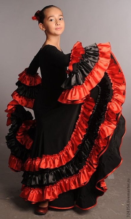 Испанский костюм для девочки своими руками