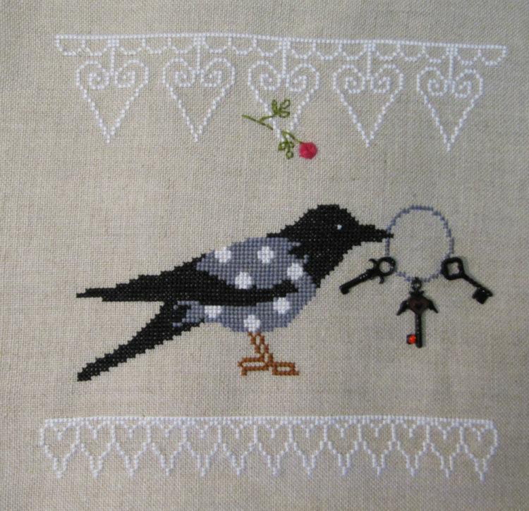 Вышивки крестом схемы ворона 14