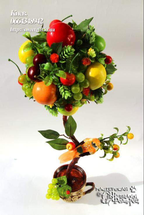 Как сделать топиарий из фруктов своими руками пошаговая инструкция
