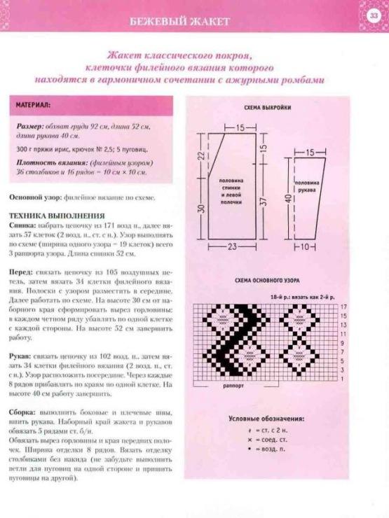 Японские журналы по вязанию в схемы можно использовать и для вязания крючком филе