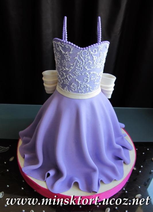 Торты с платьем для девочки