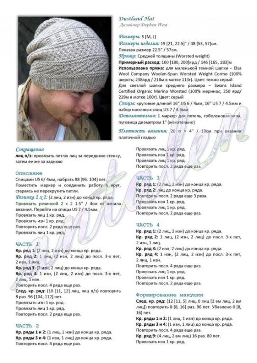Вязание шапок спицами резинкой со схемами и описанием