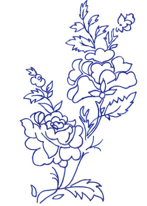 Шаблоны розы для вышивки 36