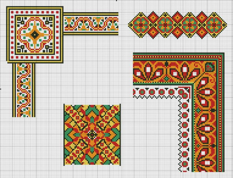 Вышивка крестом украинские мотивы схемы 3410