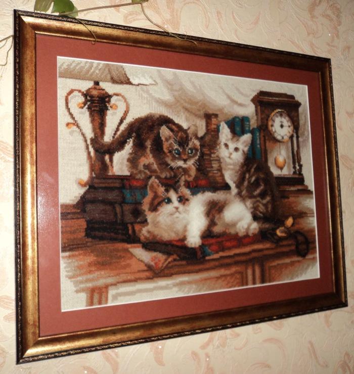Вышивка кошки от риолис