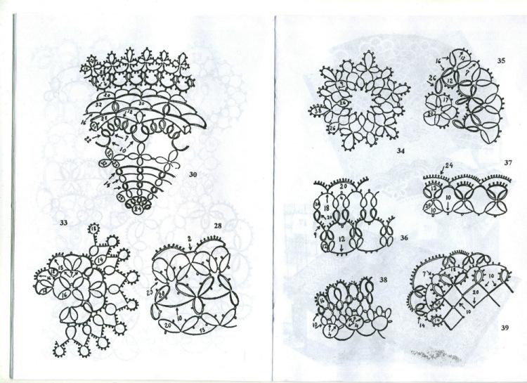 Схемы вязания фриволите 9
