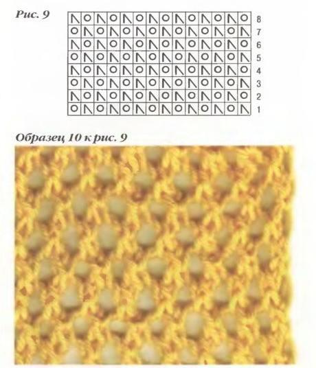 Как вязать дырочки в ажурная узоре