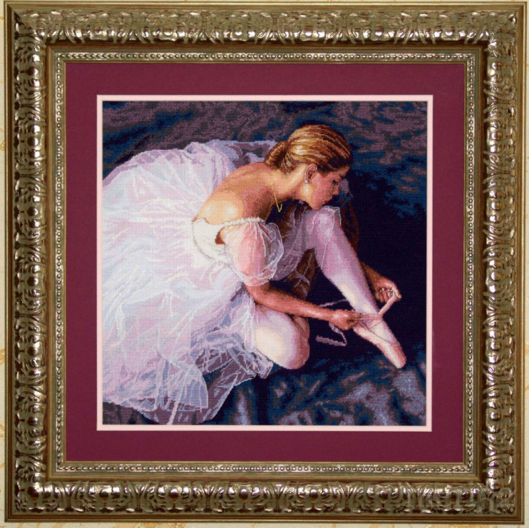 Балерина дименшенс вышивка фото