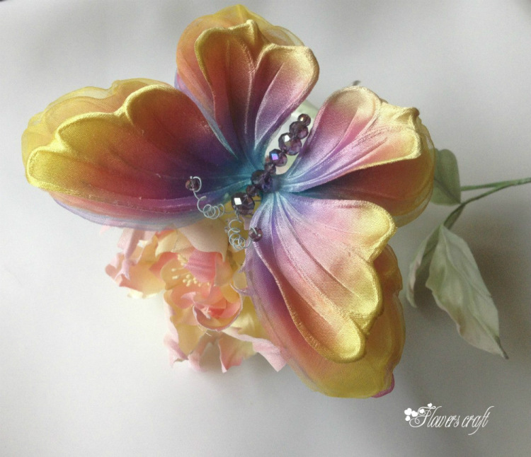 Цветы на шелке своими руками