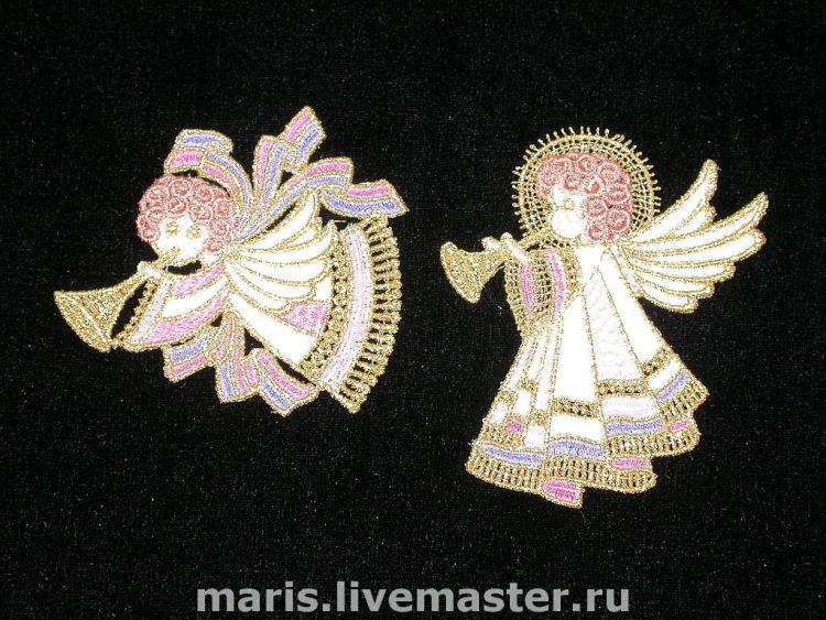 Ангелочек из кружева своими руками