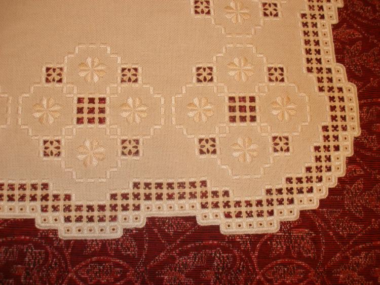 Вышивка хардангер салфетки 45