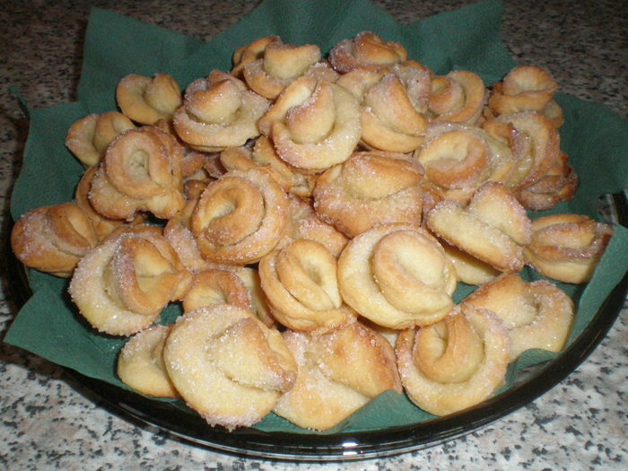 Печенье с творогом розочки фото