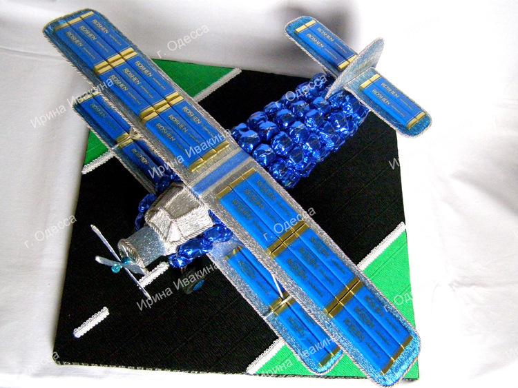 Самолет из конфет своими руками пошаговое