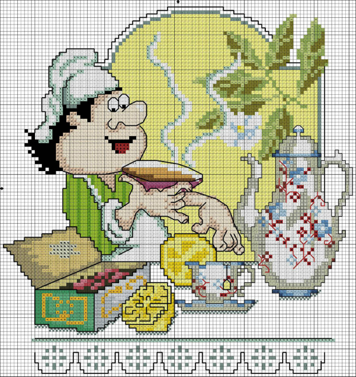 Вышивки на кухню крестиком 84