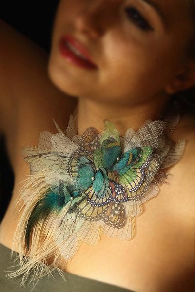 Gallery.ru / Фото #18 - Потрясающие украшения из бабочек от Derya Aksoy - Lusi1948