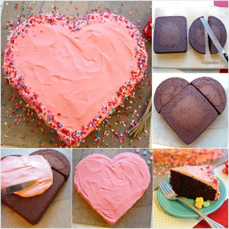 Как сделать торт сердечку