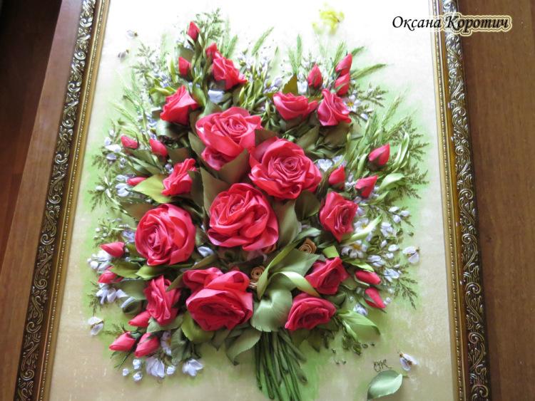 Вышивка лентами розы самые шикарные картины 630