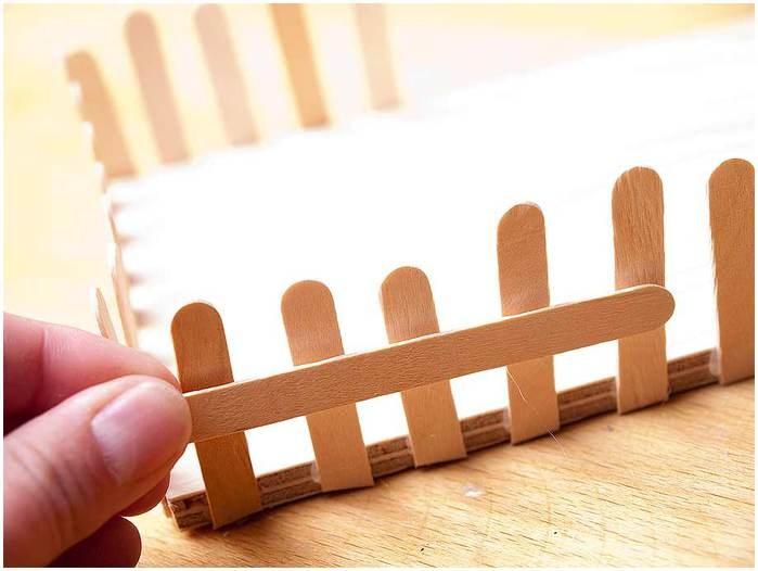 Забор из картона своими руками для поделки 100