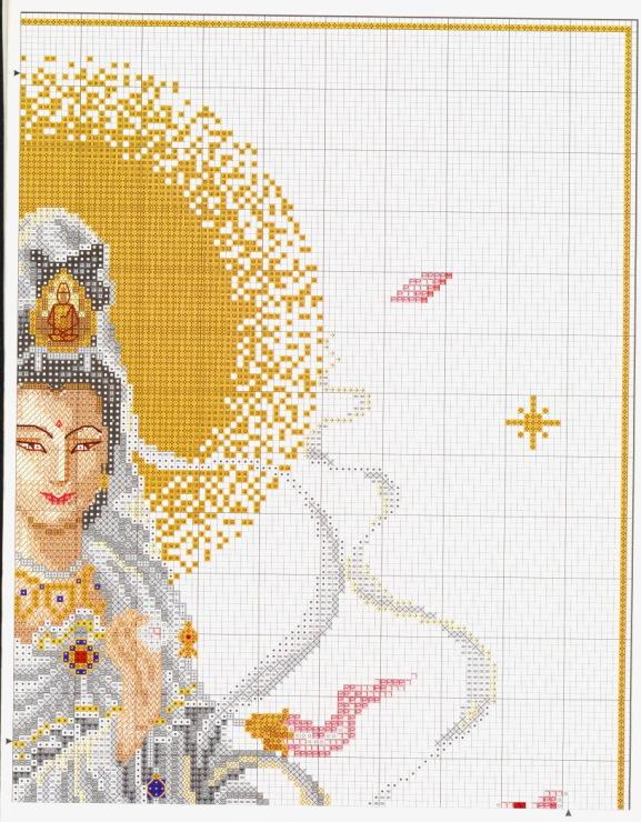 Схема вышивки крестиком индианка 36