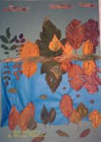 Осенние картины из листьев своими руками фото
