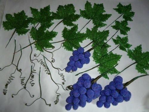 Бисероплетение виноградная лоза мастер класс видео