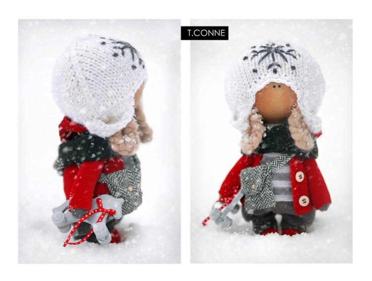 Как связать шапочку как у кукол коннэ