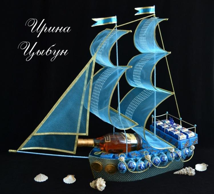 Размеры корабль из конфет мастер класс