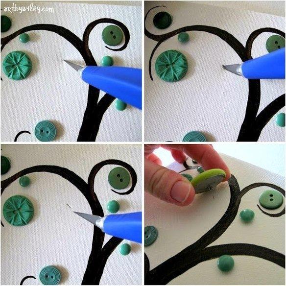 Детские картины своими руками из подручных материалов
