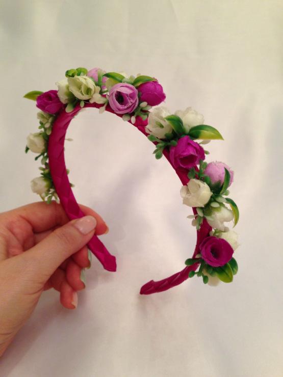 Украсить ободок с цветами своими руками