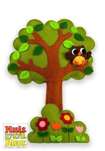 Как сделать дерева из фетра