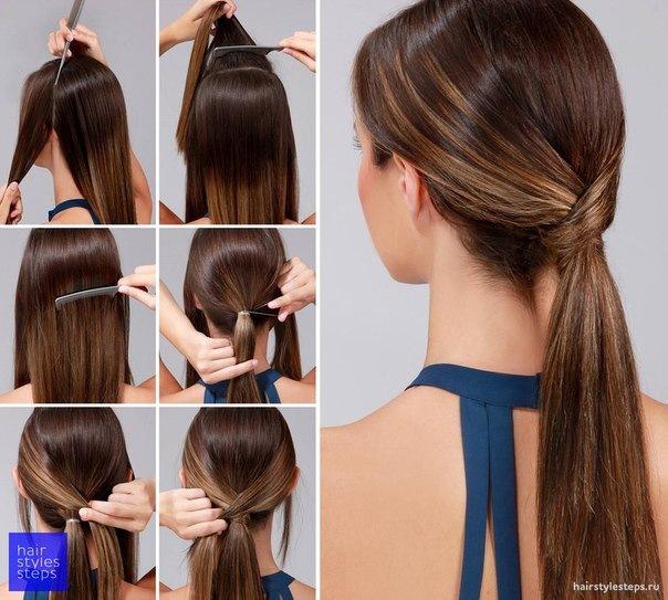 Причёски на длинные волосы на каждый день своими руками в школу