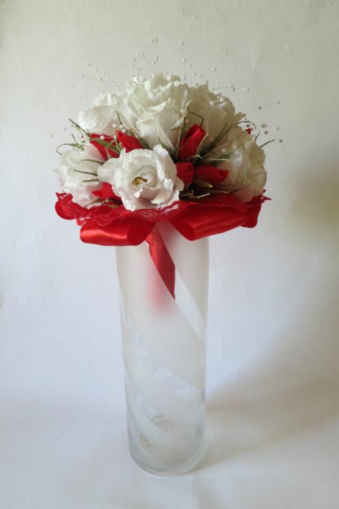 Букет невесты своими руками из гофрированной бумаги 7
