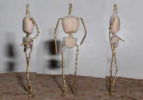 Каркасная кукла своими руками из глины