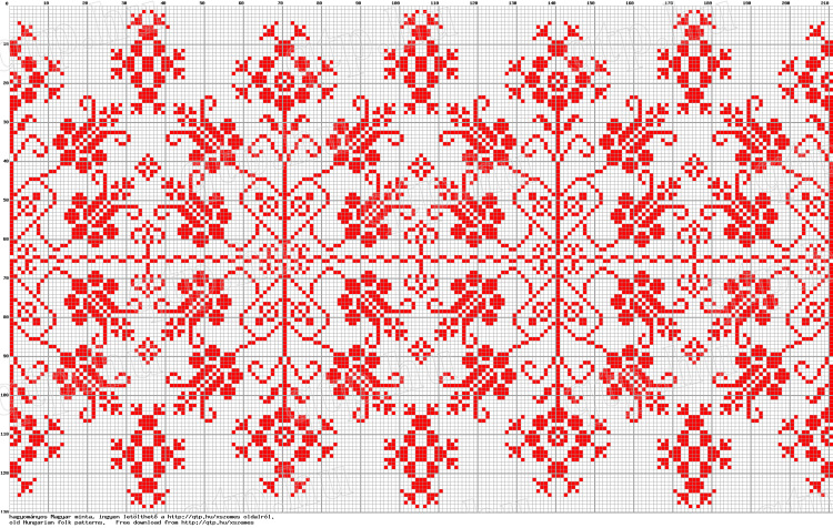 Вышивка венгерским крестом