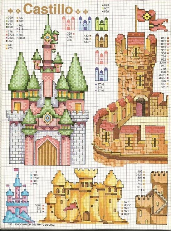 Замки вышивание и схема