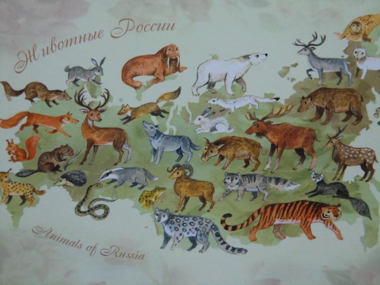 было Какие животные живут в россии на карте все еще