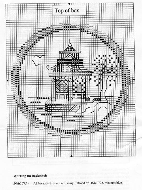 Вышивка крестом коробочка схем 95