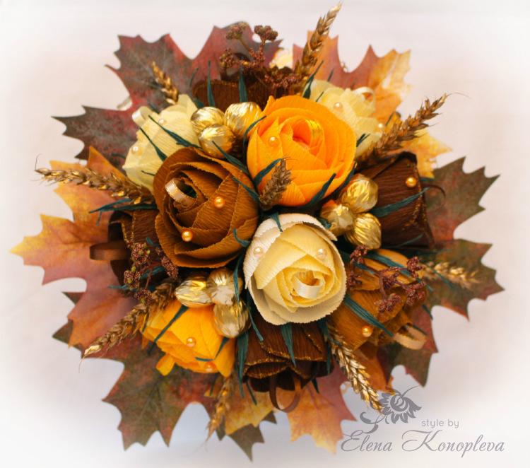 Осенние поделки из конфет 31
