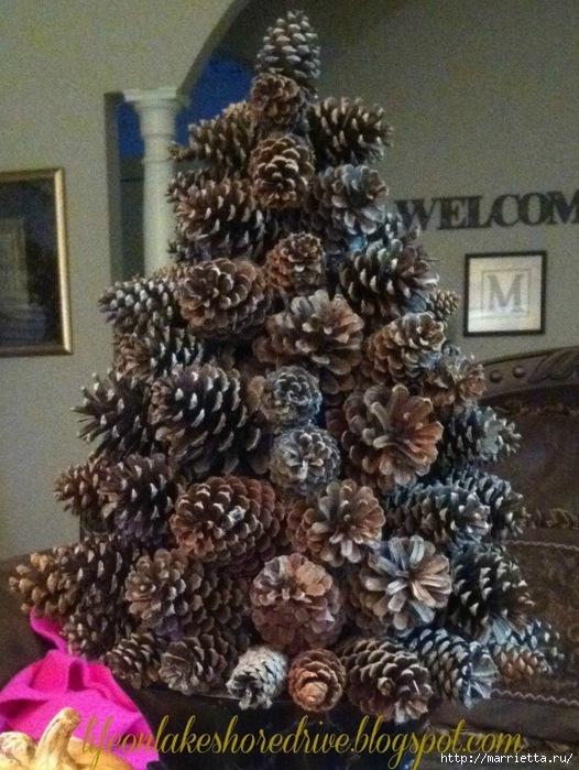 Поделки елки своими руками из шишек
