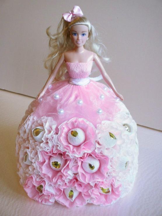 Кукла из конфет своими руками мастер класс фото