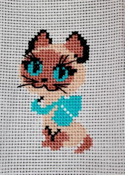 Вышивка котенок гав схема 45