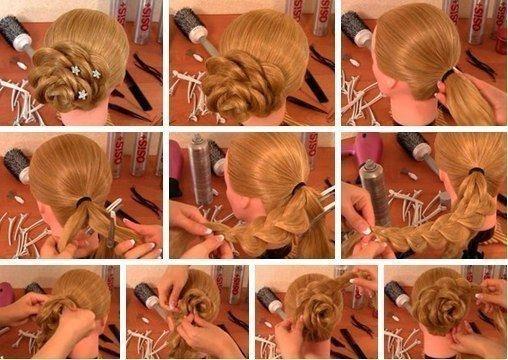 Фото причесок плетение на средние волосы пошагово фото