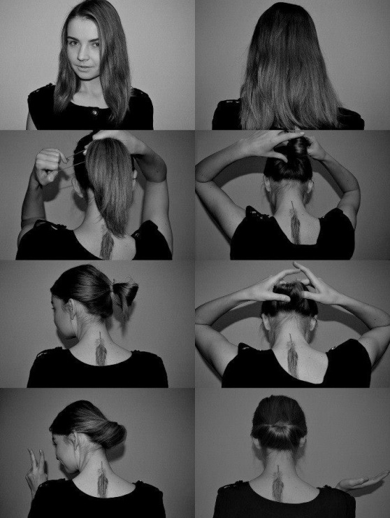 Быстрые причёски на волосы по плечи