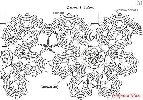 Схемы моделей брюггского кружева