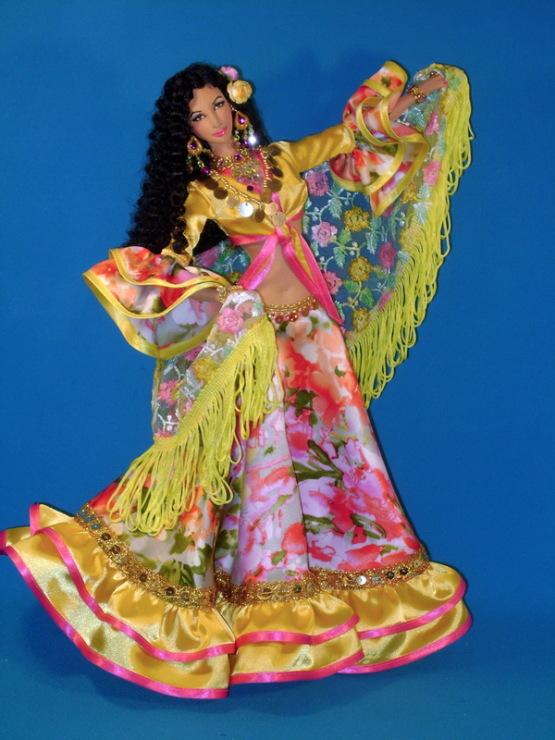 Платье цыганки для куклы как сшить 3